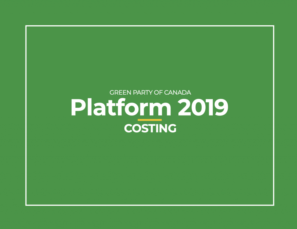 Banner for Green Party platform costing document